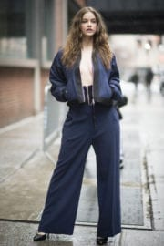 Barbara Palvin on the Set of a Photoshoot in New York
