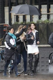 Barbara Palvin Stills Out with Friends in London