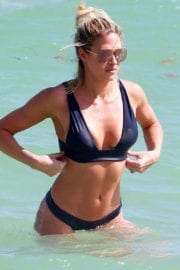 Barbie Blank Stills in Bikini at a Beach in Miami