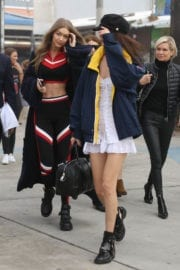 Bella Hadid and Gigi Hadid in Hilfiger Outfits Out in Los Angeles