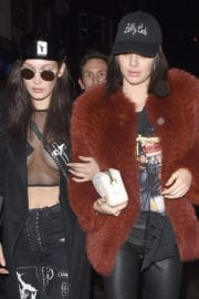 Bella Hadid and Kendall Jenner Stills at Sexy Fish Restaurant in London