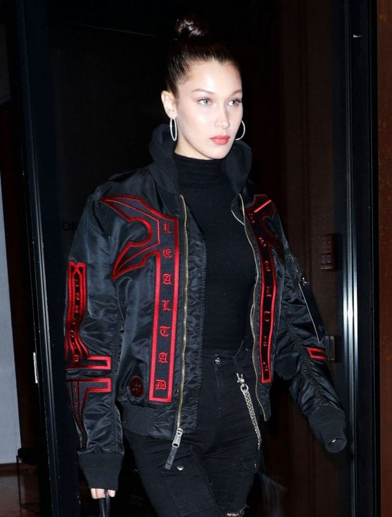 Bella Hadid Arrives at Fendi Party in New York
