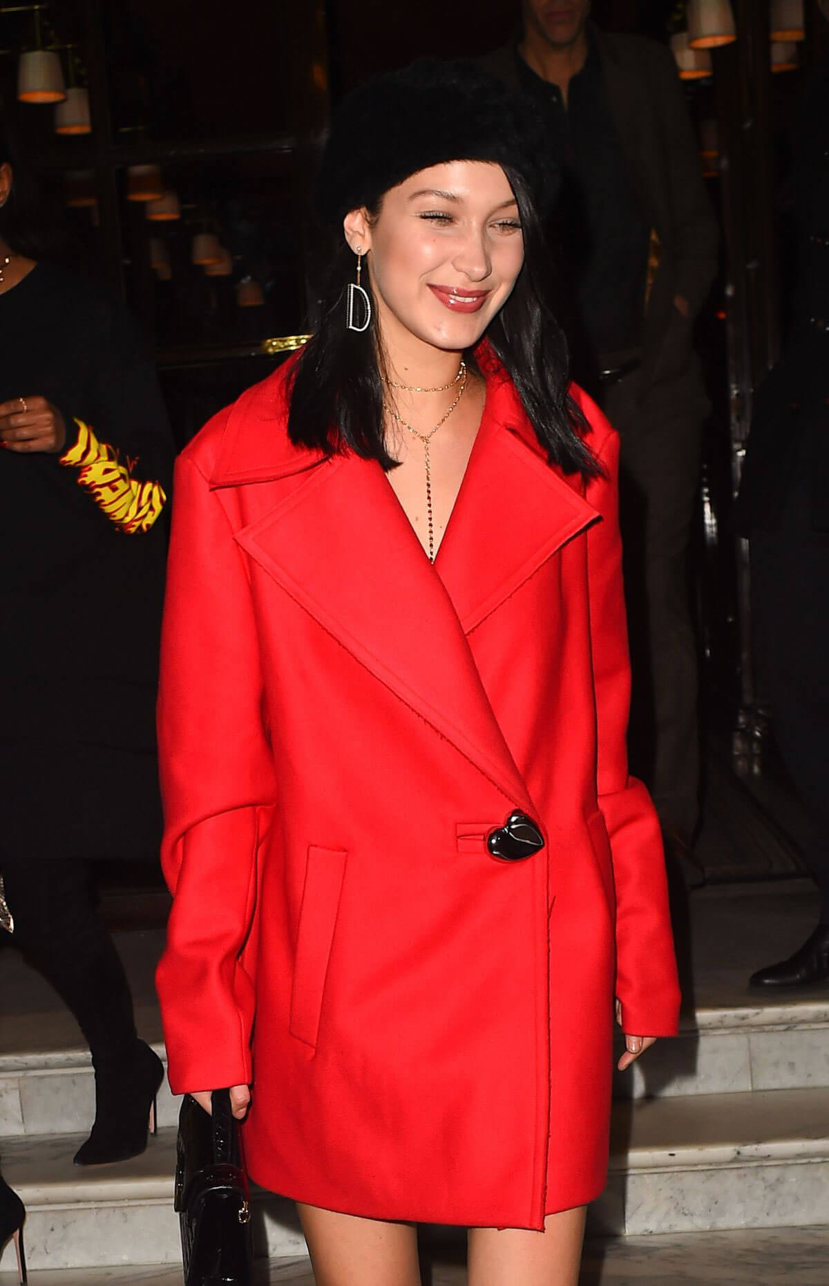 Bella Hadid Photos Night Out in Paris