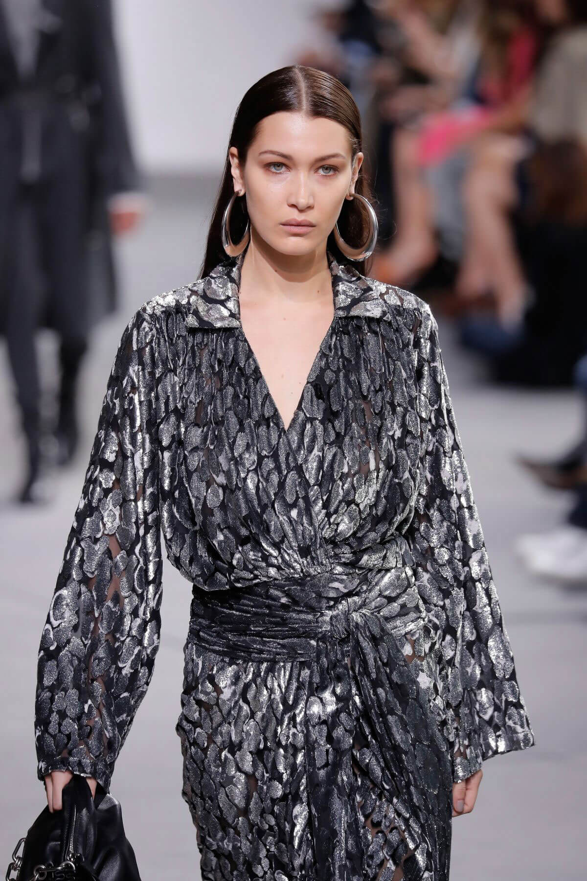 Bella Hadid Stills Leaves Michael Kors Fashion Show in New York