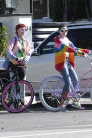 Bella Thorne and Dani Thorne Out for Bike Ride in Los Angeles