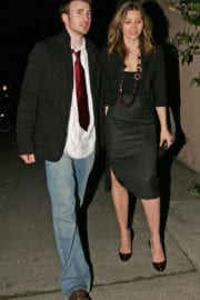Best from the Past – Jessica Biel and Chris Evans at CAA Pre-golden Globes Party