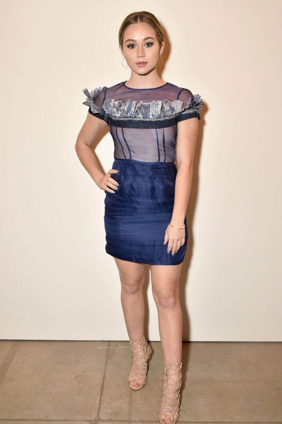 Brec Bassinger at Leanne Marshall Fashion Show in New York