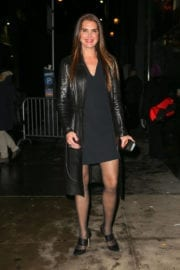 Brooke Shields Arrives at Calvin Klein Fashion Show in New York