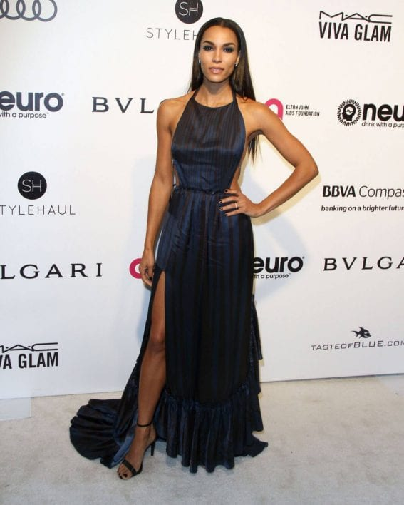 Brooklyn Sudano Stills at 25th Annual Elton John Aids Foundation's Oscar Party in Hollywood