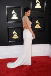 Caroline D'amore at 59th Annual Grammy Awards in Los Angeles
