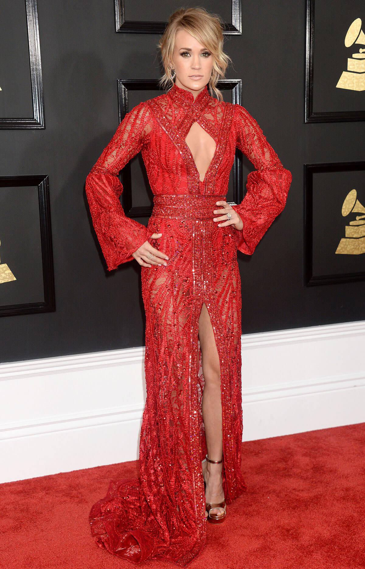 Carrie Underwood at 59th Annual Grammy Awards in Los Angeles
