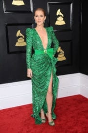 Celine Dion at 59th Annual Grammy Awards in Los Angeles