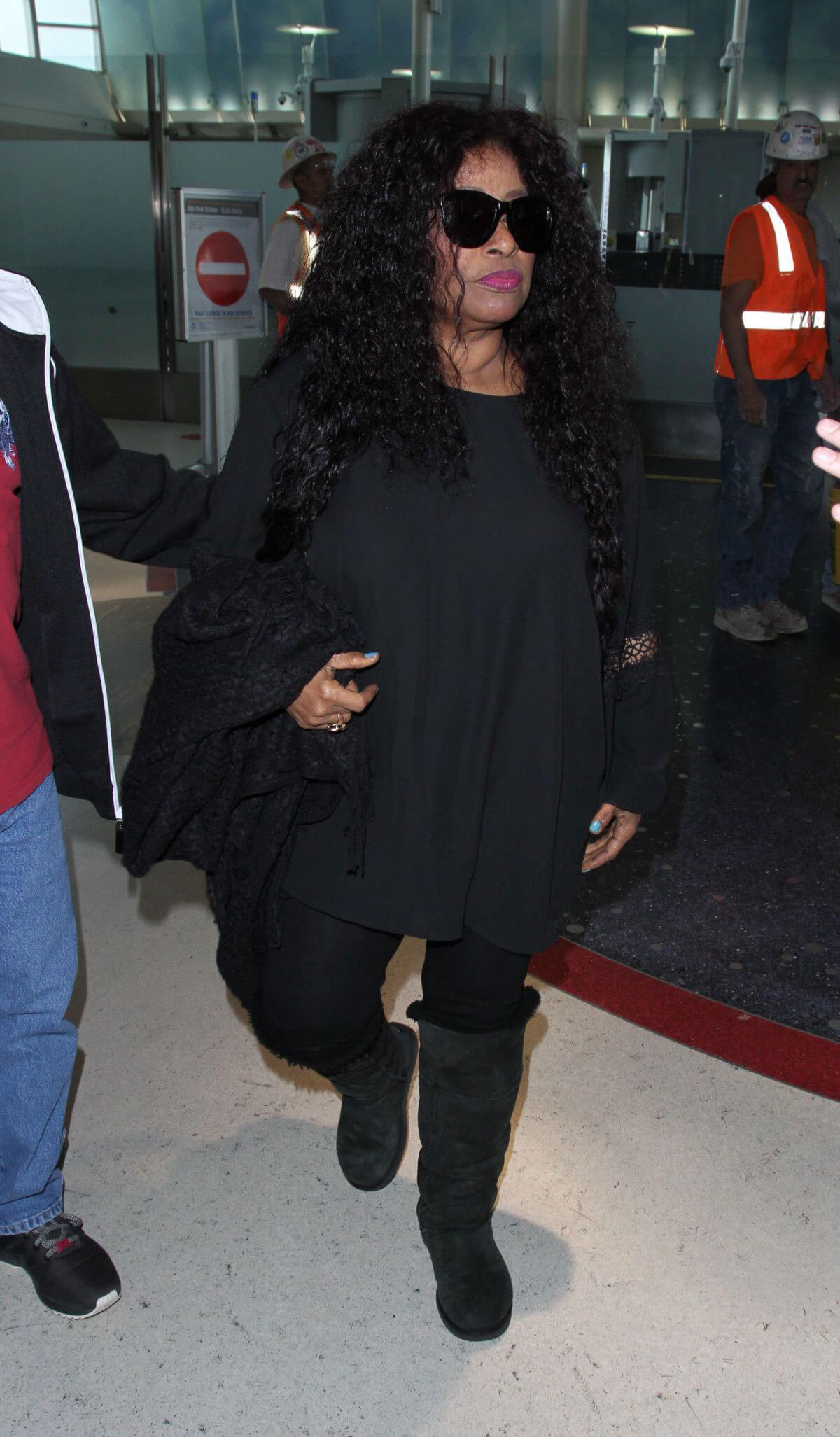 Chaka Khan Stills at LAX Airport in Los Angeles