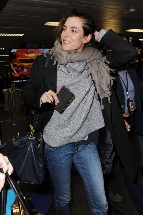 Charlotte Casiraghi Stills at Linate Airport in Milan