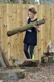Charlotte Crosby Stills Working Out at a Park in Sunderland