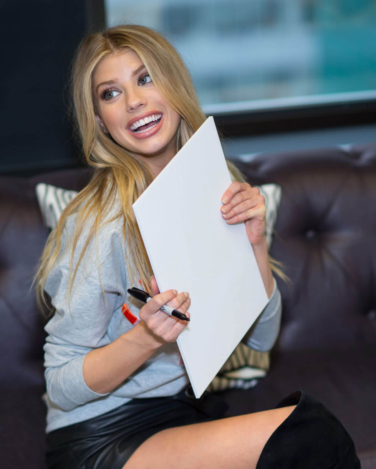 Charlotte Mckinney at Guess Office in New York