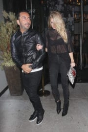 Charlotte McKinney Leaves Catch LA in West HOllywood