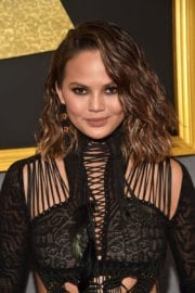 Chrissy Teigen at 59th Annual Grammy Awards in Los Angeles