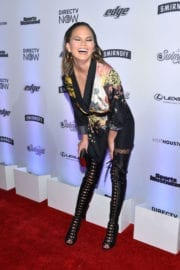Chrissy Teigen Stills at Sports Illustrated Swimsuit Edition Launch in New York
