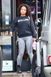 Christina Milian Out for Lunch in Los Angeles