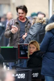 Claire Danes Stills on the Set of 'Homeland' in New York