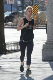 Claire Danes Stills Out Jogging in New York