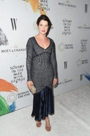 Cobie Smulders Stills at 'Sundey in the Park with George' Opening Night in New York