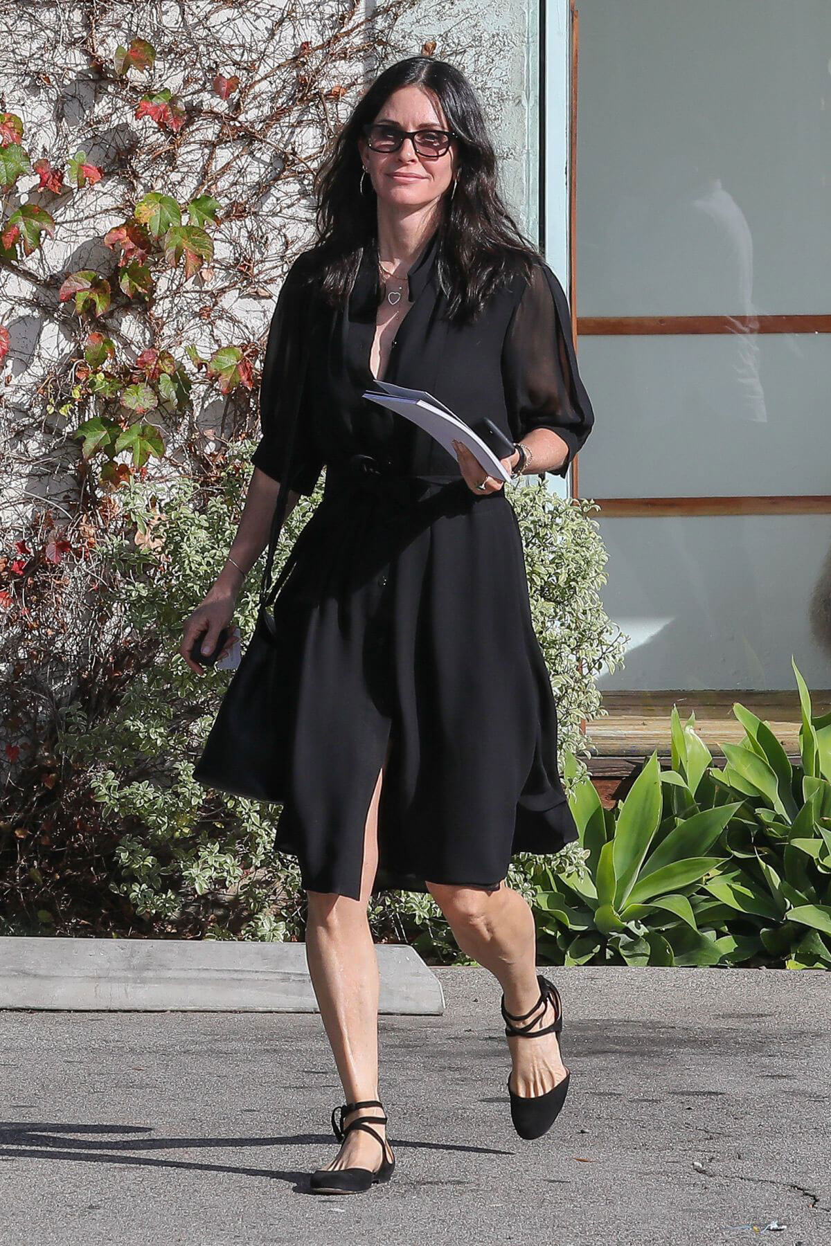 Courteney Cox Leaves Andy Lecompte Salon in West Hollywood