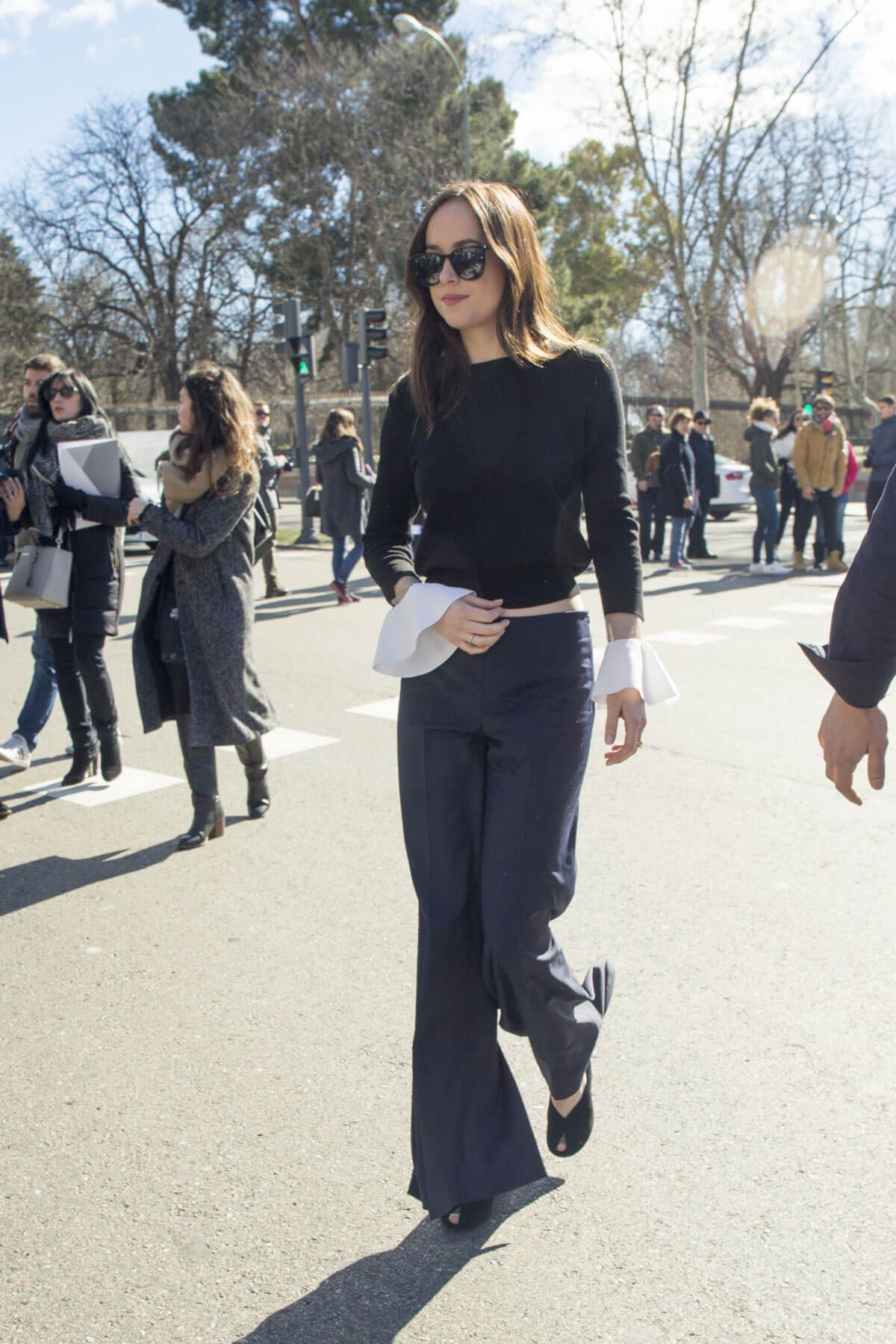 Dakota Johnson Out and About in Madrid