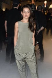 Danielle Campbell Stills at ICB Collection Fashion Show in New York
