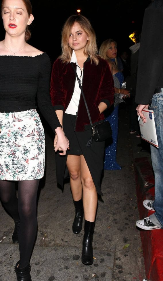 Debby Ryan Arrives at GQ Party at Chateau Marmont in West Hollywood