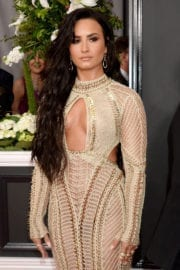 Demi Lovato at 59th Annual Grammy Awards in Los Angeles
