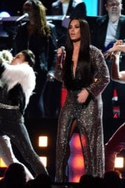 Demi Lovato Performs in a Tribute to Bee Gees at 2017 Grammy Awards in Los Angeles