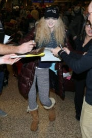 Elena Kampouris Arrives in Salt Lake City