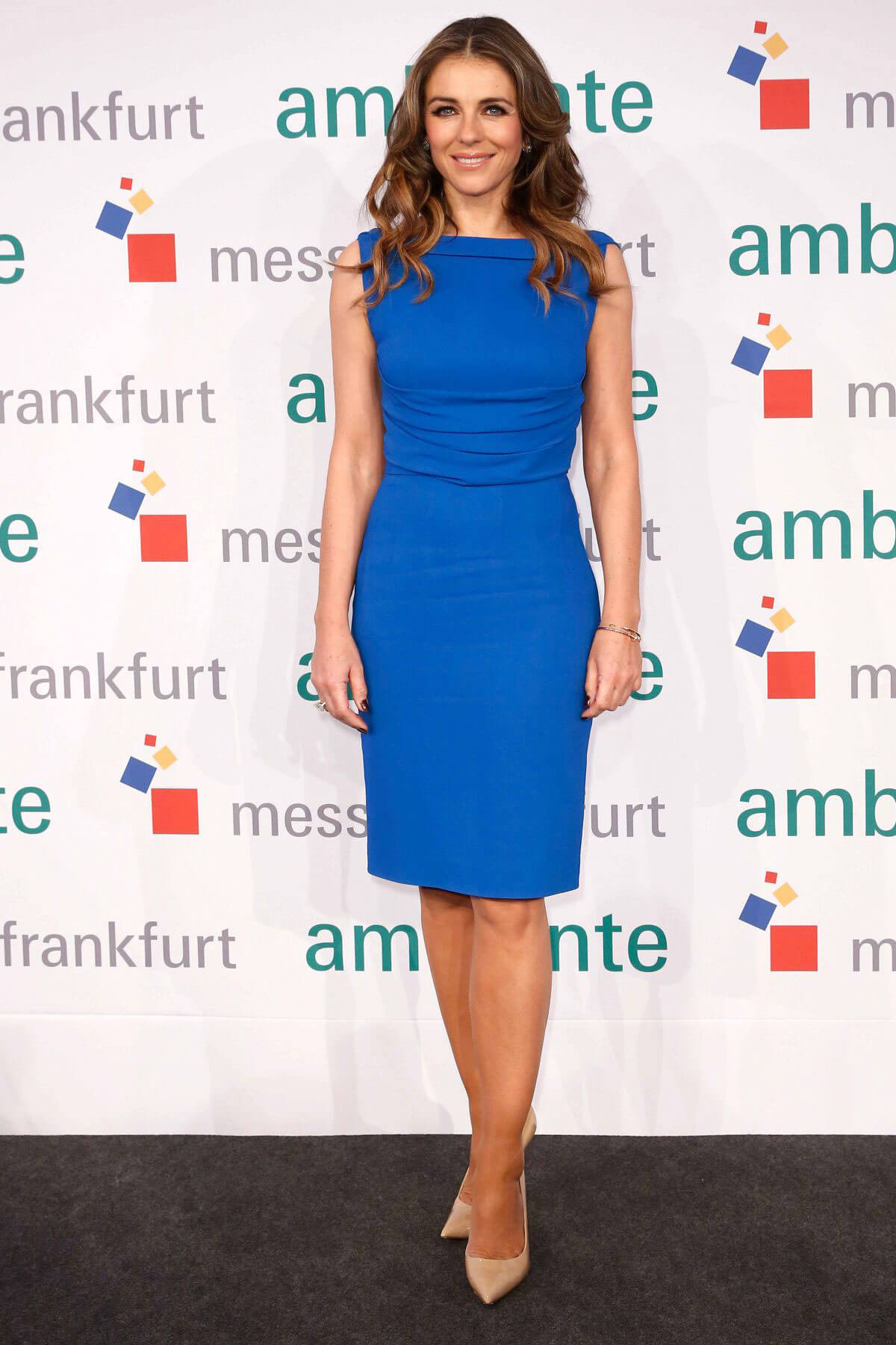 Elizabeth Hurley at Fair Ambiente in Frankfurt