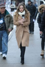 Elizabeth Olsen Out and About in Park City