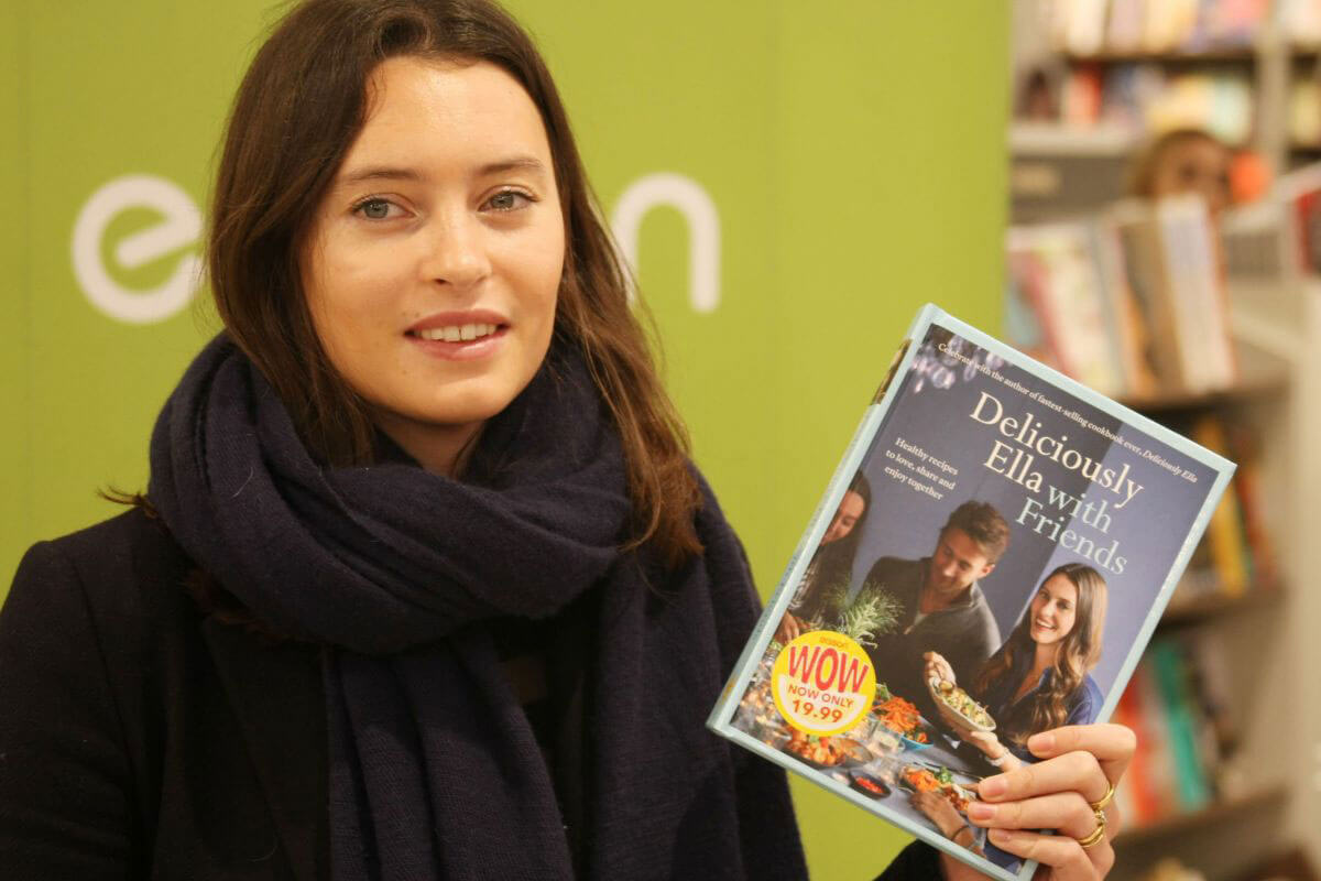 "Ella Woodward Stills Promoting Her ""Deliciously Ella with Friends"" Book in Dublin"
