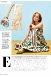 Ellie Bamber in Instyle Magazine, March 2017 Issue
