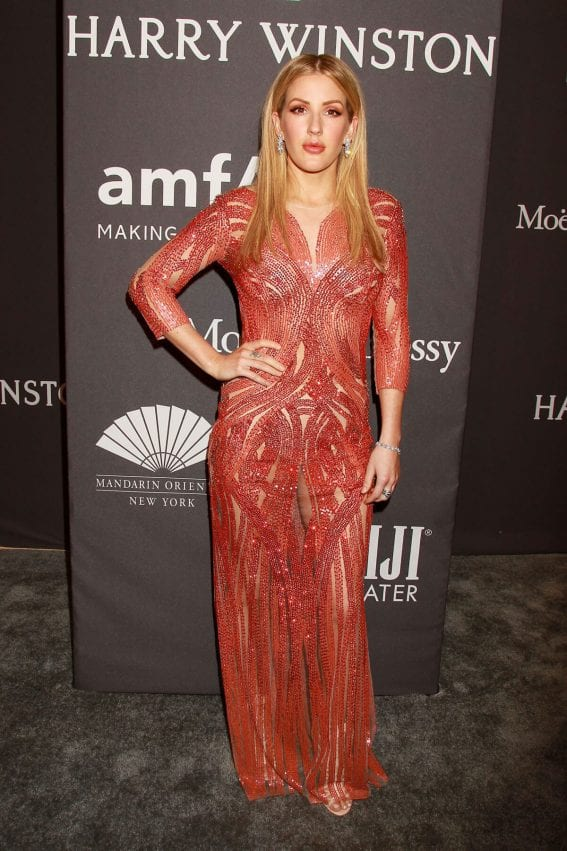 Ellie Goulding at AMFAR 2017 New York Gala