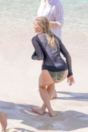 Elsa Hosk on the Set of a Photoshoot in St. Barts Photos