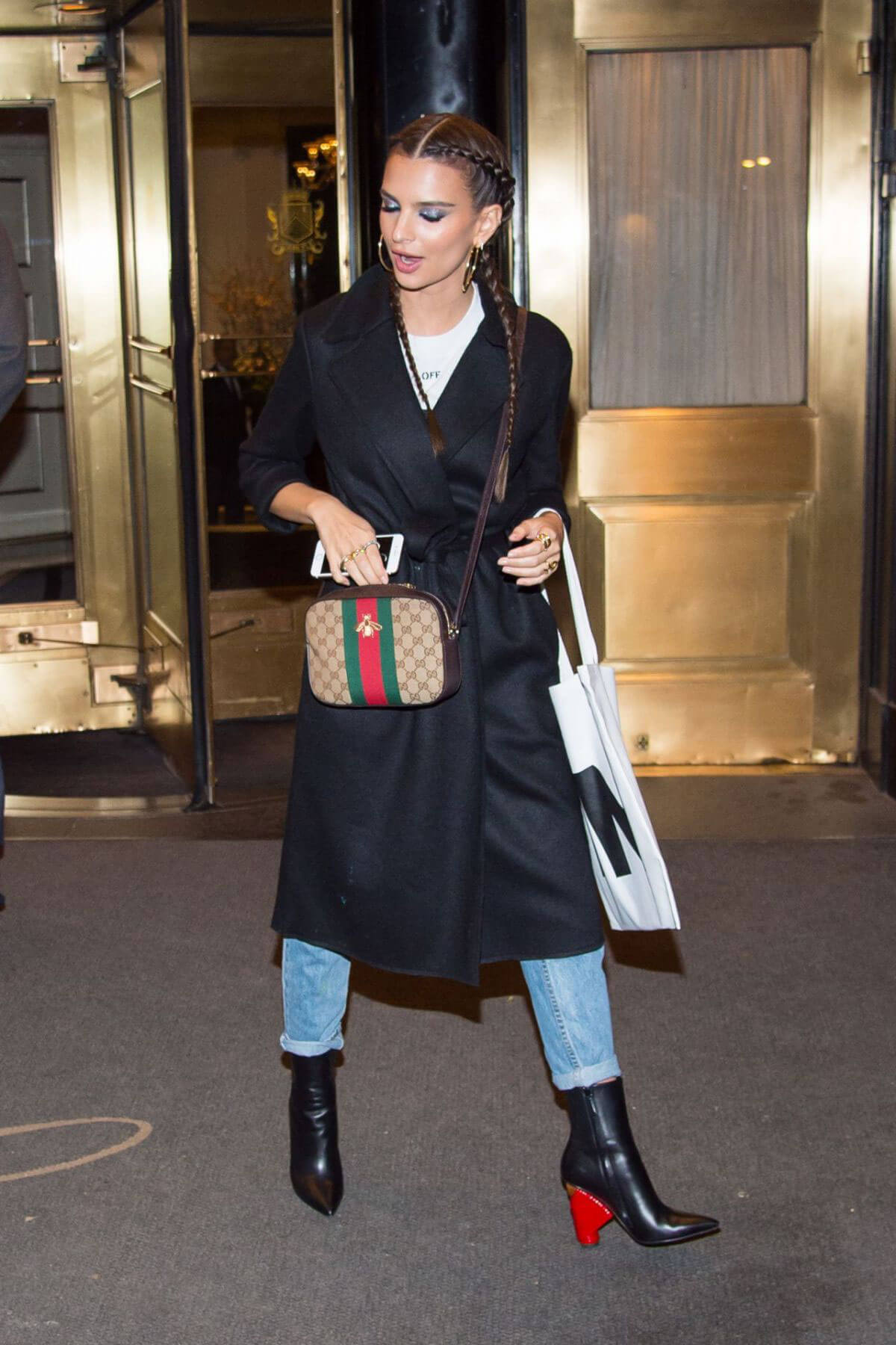 Emily Ratajkowski Leaves Instyle March Issue Party in New York
