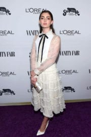 Emily Robinson Stills at Vanity Fair and L'Oreal Paris Toast to Young Hollywood