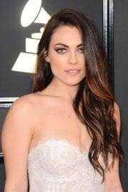 Emily Weisband at 59th Annual Grammy Awards in Los Angeles