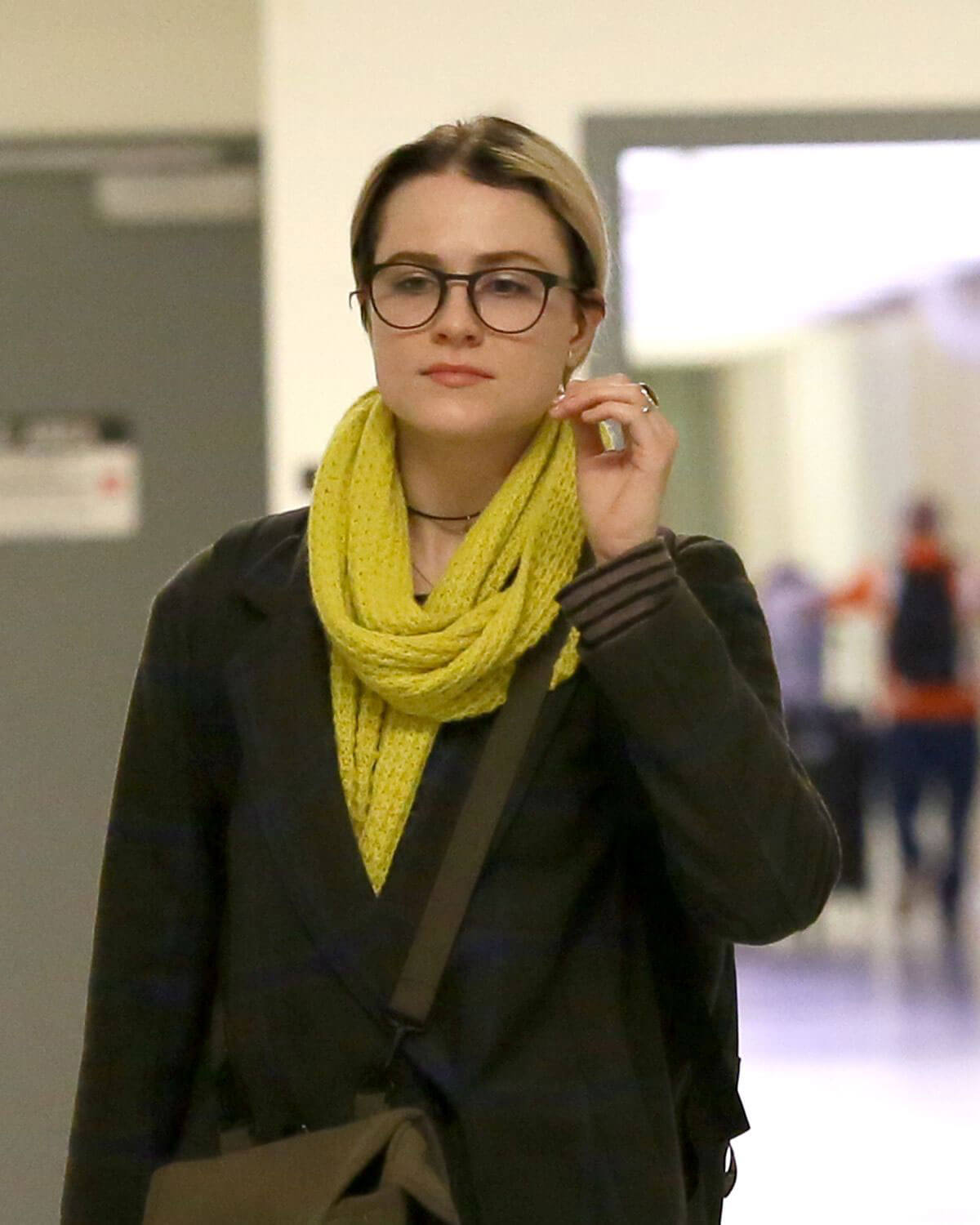 Evan Rachel Wood Stills at Lax Airport In Los Angeles