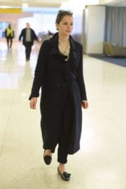 Felicity Jones Stills at JFK Airport in New York