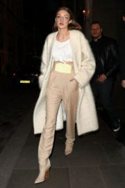 Gigi Hadid Stills Leaves Her Hotel in London