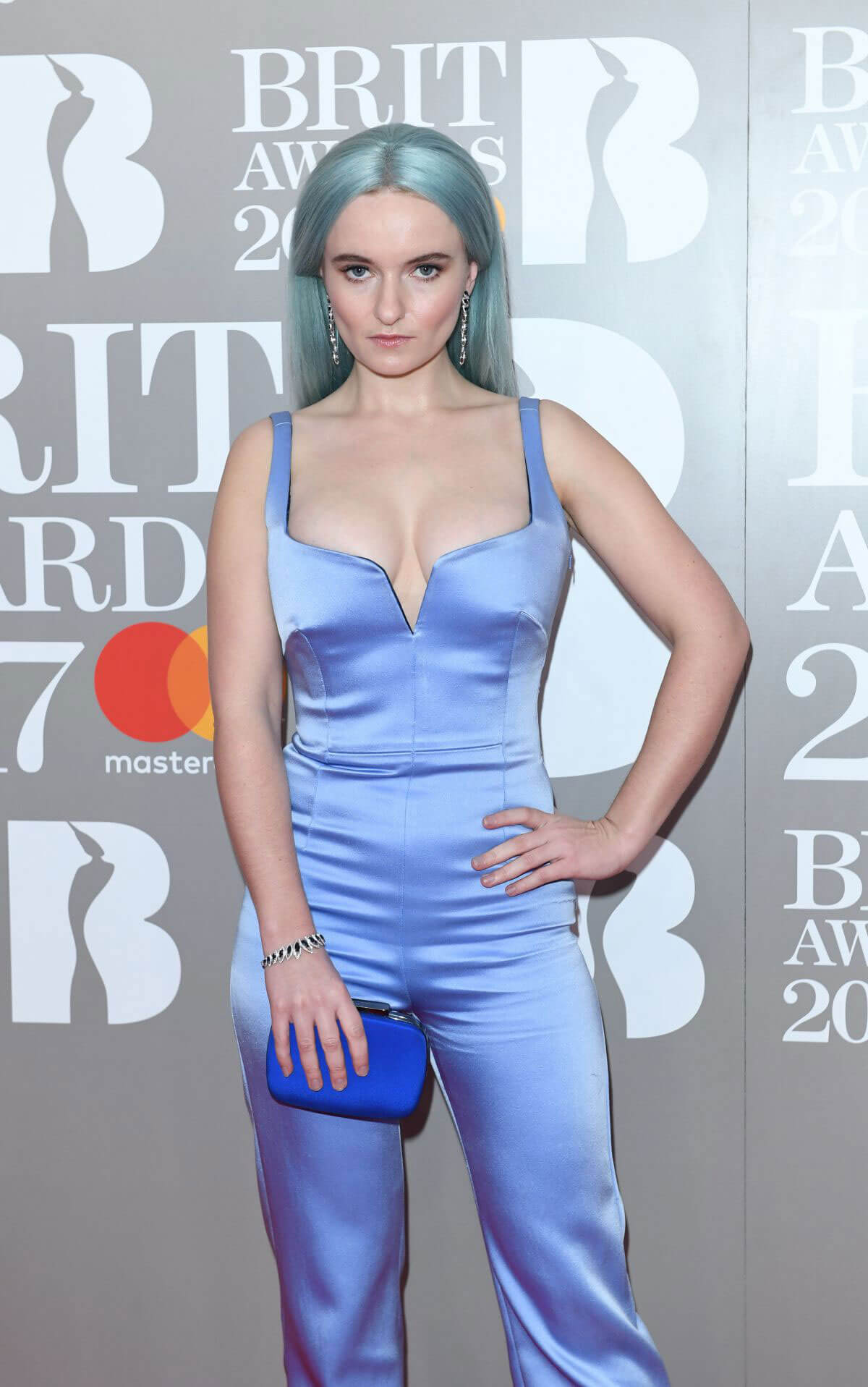 Grace Chatto Stills at The Brit Awards at O2 Arena in London