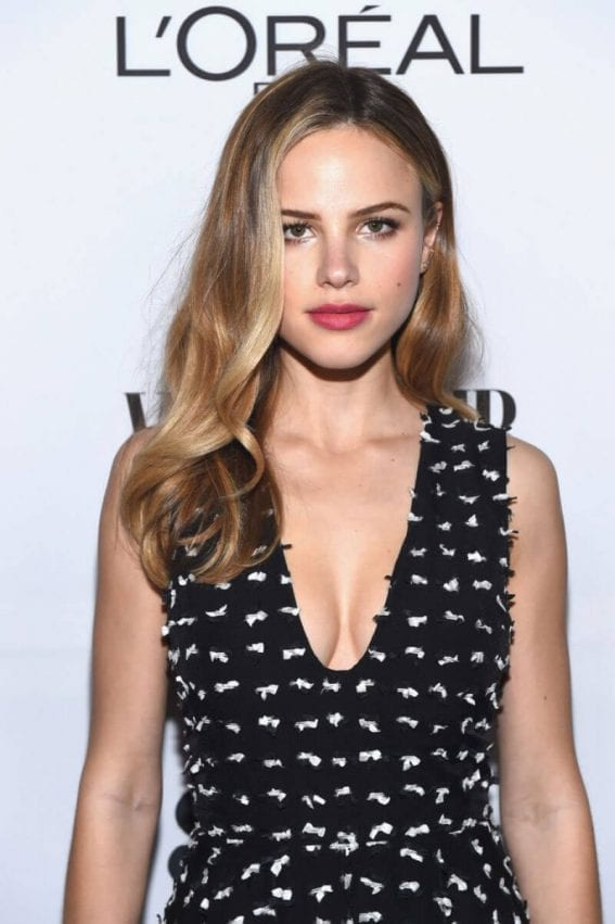 Halston Sage Stils at Vanity Fair and L'Oreal Paris Toast to Young Hollywood