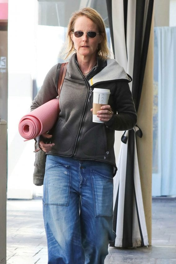 Helen Hunt Stills Heading to a Yoga Class in Brentwood