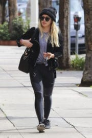 Hilary Duff Outside a Gym in Studio City